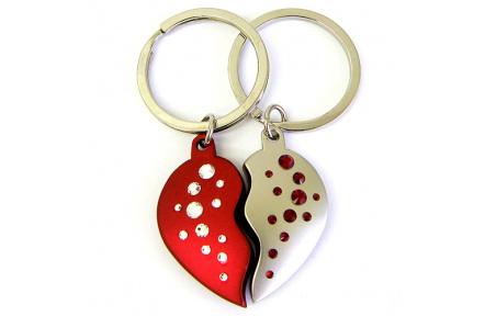 Přívěsek na klíče GM Collection 2 Hearts 785101