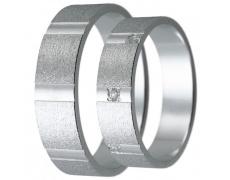 Snubní prsteny kolekce HARMONY12, materiál bílé zlato 585/1000, zirkon , váha: u velikosti 54mm - 4.