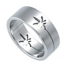 Prsten z chirurgické oceli RSSO306