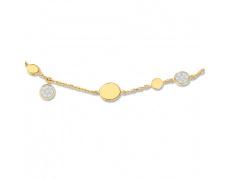 Zlatý náhrdelník Cacharel XC524BB3, materiál žluté zlato 585/1000, diamant-0.11 ct, váha: 4.80g