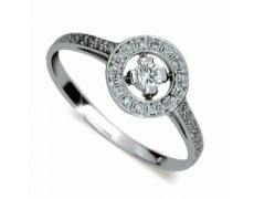Briliantový prsten Danfil DF1990, materiál bílé zlato 585/1000, 33x briliant SI1/G = 0.292 ct, váha: