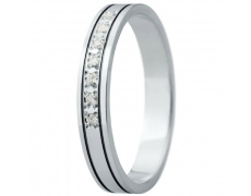 Snubní prsteny kolekce ELISKA_30, materiál bílé zlato 585/1000, ruthenium, zirkon, váha: u velikosti