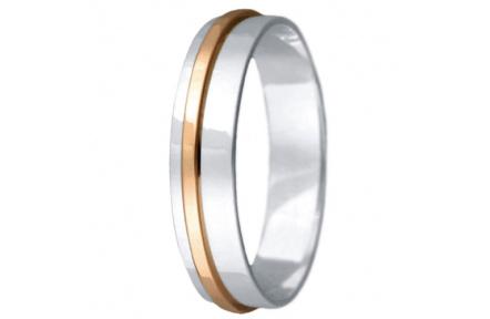 Snubní prsteny kolekce VIOLA_18, materiál červené, bílé zlato 585/1000, váha: u velikosti 54mm - 2.4