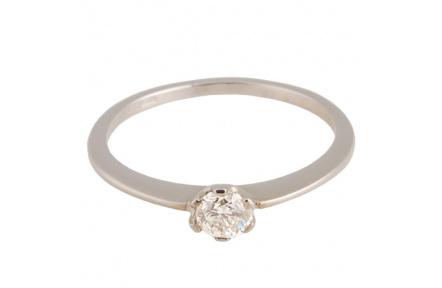 Zlatý Prsten Soliter 224 00776 07, materiál bílé zlato 585/1000, 1x briliant = 0.223 ct, váha: 1.35g