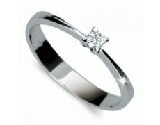 Briliantový prsten Danfil DF1958, materiál bílé zlato 585/1000, 1x briliant SI1/G = 0.080 ct, váha: