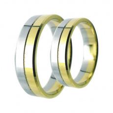 Snubní prsteny Lucie Gold Charlotte S-116, materiál bílé, žluté zlato 585/1000, váha: průměrná 8.50g