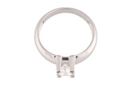 Zlatý Prsten Soliter 224 00398 07, materiál bílé zlato 585/1000, 1x briliant = 0.867 ct, váha: 4.00g