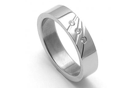 Dámský ocelový snubní prsten RZ05011