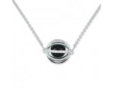 Zlatý náhrdelník Cacharel XF501GDB3, materiál bílé zlato 585/1000, onyx, diamant-0.06 ct, váha: 5.10