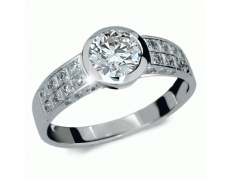 Briliantový prsten Danfil DF1889, materiál bílé zlato 585/1000, 1x briliant SI1/G = 1.300 ct, váha: