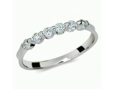 Briliantový prsten Danfil DF1951, materiál bílé zlato 585/1000, 6x briliant SI1/G = 0.300 ct, váha: