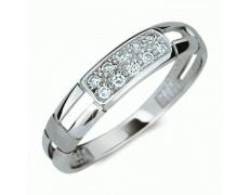 Briliantový prsten Danfil DF2033, materiál bílé zlato 585/1000, 10x briliant = 0.100 ct, váha: 1.55g