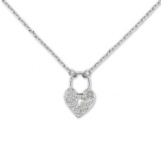 Zlatý náhrdelník Cacharel XD508GB3, materiál bílé zlato 585/1000, diamant-0.08 ct, váha: 3.30g
