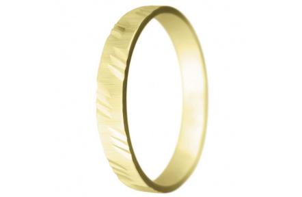 Snubní prsteny kolekce SP3-I, materiál žluté zlato 585/1000 , váha: u velikosti 54mm - 2.40g