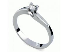 Briliantový prsten Danfil DF1854, materiál bílé zlato 585/1000, 1x briliant SI1/G = 0.092 ct, váha: