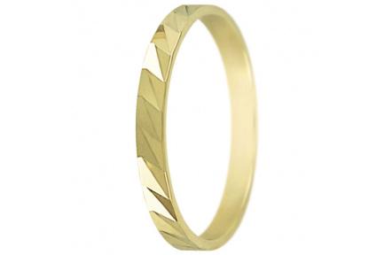 Snubní prsteny kolekce P6/F, materiál žluté zlato 585/1000 , váha: u velikosti 54mm - 1.80g