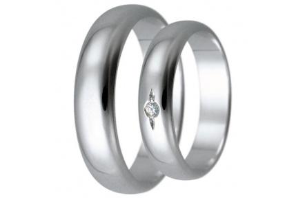 Snubní prsteny kolekce HARMONY28, materiál bílé zlato 585/1000, zirkon, váha: u velikosti 54mm - 4.9