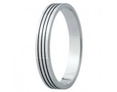 Snubní prsteny kolekce ELISKA_32, materiál bílé zlato 585/1000, ruthenium, váha: u velikosti 54mm -