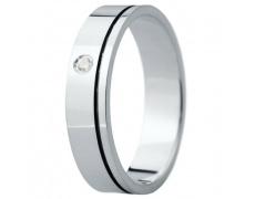Snubní prsteny kolekce ELISKA_24, materiál bílé zlato 585/1000, ruthenium, zirkon, váha: u velikosti