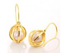 Zlaté náušnice Cacharel XF302JN, materiál žluté zlato 585/1000, kultivovaná perla, váha: 4.70g