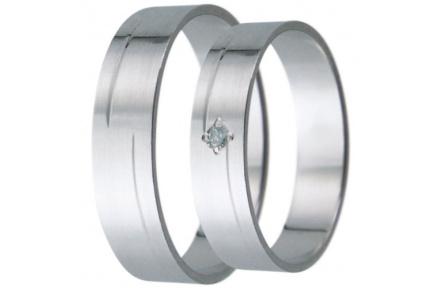Snubní prsteny kolekce D10, materiál bílé zlato 585/1000, zirkon , váha: u velikosti 54mm - 3.50g