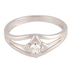 Zlatý Prsten Soliter 224 00865 07, materiál bílé zlato 585/1000, 1x briliant = 0.108 ct, váha: 2.15g