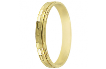 Snubní prsteny kolekce SP3-E, materiál žluté zlato 585/1000 , váha: u velikosti 54mm - 2.40g