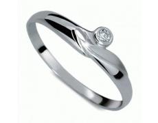 Briliantový prsten Danfil DF1231, materiál bílé zlato 585/1000, 1x briliant SI1/G = 0.025 ct, váha: