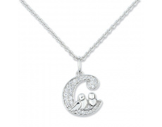 Stříbrný náhrdelník Cacharel CSC112Z38, materiál stříbro 925/1000, zirkon, váha: 4.20g