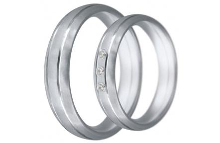 Snubní prsteny kolekce CLAUDIA20, materiál bílé zlato 585/1000, zirkon, váha: u velikosti 54mm - 7.6