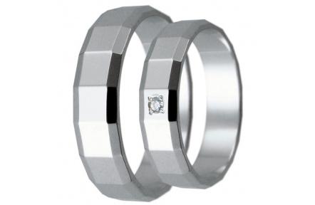 Snubní prsteny kolekce HARMONY1, materiál bílé zlato 585/1000, zirkon , váha: u velikosti 54mm - 4.4