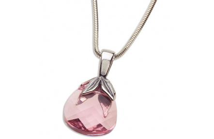 Přívěsek Briolette Pink