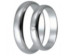 Snubní prsteny kolekce HARMONY25, materiál bílé zlato 585/1000, zirkon, váha: u velikosti 54mm - 3.3