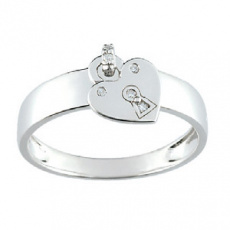 Zlatý prsten Cacharel XF008GB3, materiál bílé zlato 585/1000, diamant-0.02 ct, váha: 2.25g