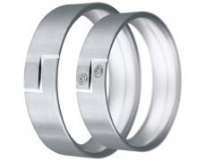 Snubní prsteny kolekce CLAUDIA16, materiál bílé zlato 585/1000, zirkon, váha: u velikosti 54mm - 6.5