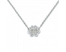 Zlatý náhrdelník Cacharel XE501GB3, materiál bílé zlato 585/1000, diamant-0.12 ct, váha: 3.10g