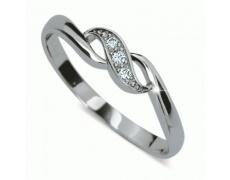 Briliantový prsten Danfil DF2001, materiál bílé zlato 585/1000, 3x briliant SI1/G = 0.035 ct, váha: