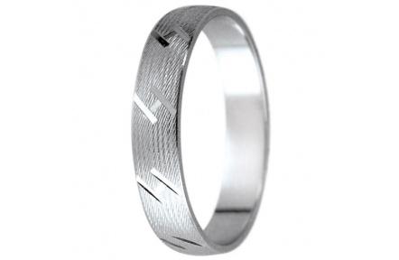 Snubní prsteny kolekce K2, materiál bílé zlato 585/1000 , váha: u velikosti 54mm - 3.30g
