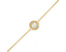 Zlatý náramek Cacharel XF602JN, materiál žluté zlato 585/1000, kultivovaná perla, váha: 3.20g