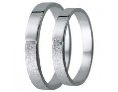 Snubní prsteny kolekce D29, materiál bílé zlato 585/1000, zirkon , váha: u velikosti 54mm - 2.40g