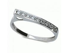 Briliantový prsten Danfil DF2003, materiál bílé zlato 585/1000, 9x briliant SI1/G = 0.127 ct, váha:
