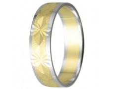 Snubní prsteny kolekce HARMONY23, materiál bílé, žluté zlato 585/1000, váha: u velikosti 54mm - 3.30