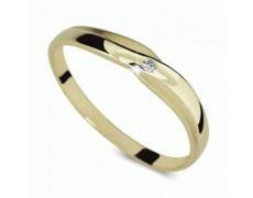 Briliantový prsten Danfil DF2006Z, materiál žluté zlato 585/1000, 1x briliant SI1/G = 0.015 ct, váha