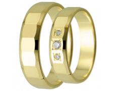 Snubní prsteny kolekce HARMONY3, materiál žluté zlato 585/1000, zirkon , váha: u velikosti 54mm - 4.