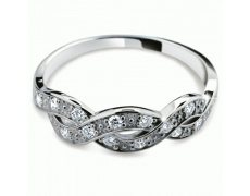 Briliantový prsten Danfil DF2080, materiál bílé zlato 585/1000, 15x briliant SI1/G = 0.262 ct, váha: