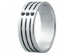Snubní prsteny kolekce ELISKA_05, materiál bílé zlato 585/1000, ruthenium, zirkon, váha: u velikosti