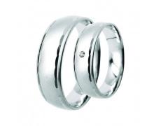 Snubní prsteny Lucie Gold Charlotte S_094, materiál bílé zlato 585/1000, zirkon, váha: průměrná 9.00