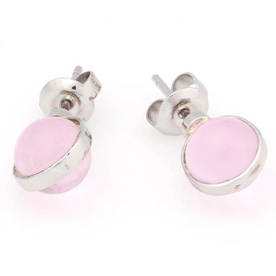 Náušnice Storm Mini Baril Pink