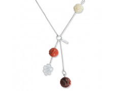 Stříbrný náhrdelník Cacharel CRC127W60, materiál stříbro 925/1000, pryskyřice, váha: 6.30g