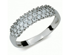 Briliantový prsten Danfil DF1973, materiál bílé zlato 585/1000, 31x briliant SI1/G = 0.492 ct, váha: